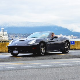 Testing the Ferrari California. Vancouver. Feb 2013. photo by Julia Kozlov.