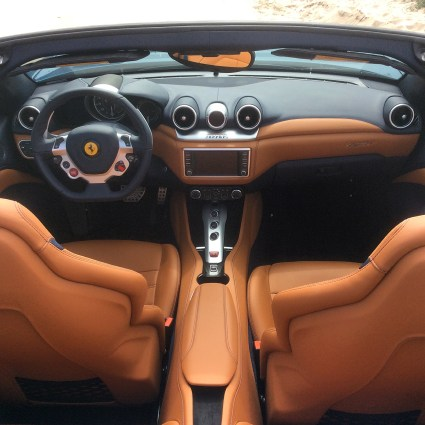 Interior Ferrari California T while test driving in LA March 2016
