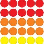 עיגולים צבעי האש