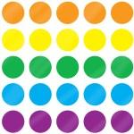 עיגולים צבעוניים מטאלי קוטר 18