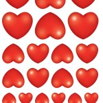 לבבות שונים אדום 10דף