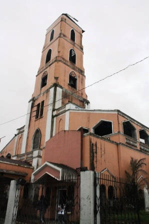 The Sto. Nino Church stands tall.