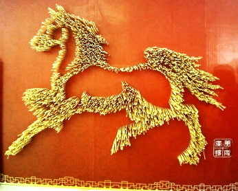 Beautiful artwork made of wooden chopsticks!
