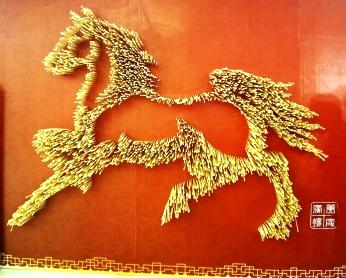 Beautiful artwork made of wooden chopsticks!
