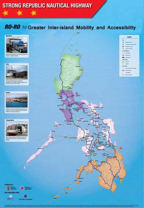 This RORO map I found through the Marina website - http://marina.gov.ph/srnh/srnh_main.html