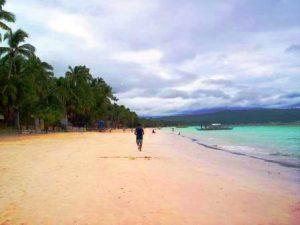 Fine sand in Boracay Island.