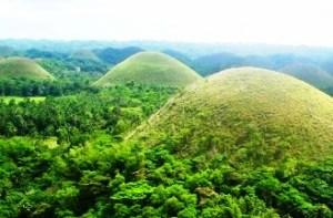 Chocolate Hills in Bohol.