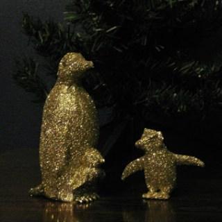 DIY Glitter Penguins
