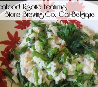 Seafood Beer Risotto with Stone Cali-Belgique IPA
