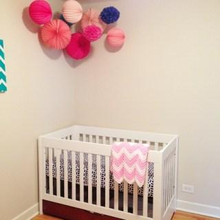 Nursery Update: Pom Poms and Lanterns