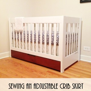 Sewing an Adjustable Crib Skirt
