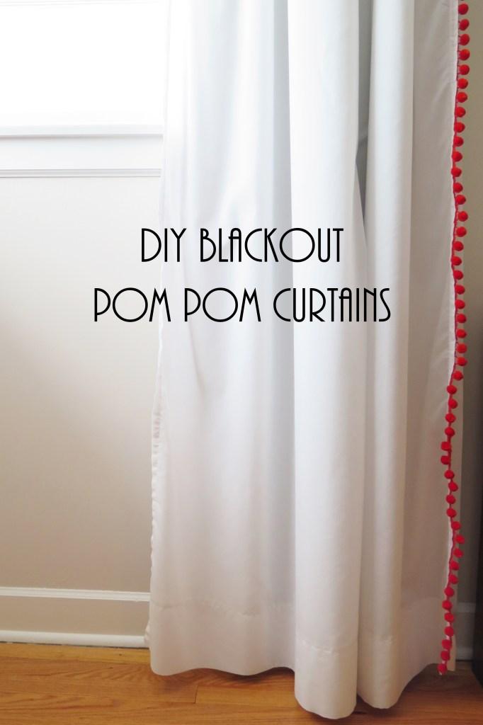 IKEA Vivan pom pom curtain hack