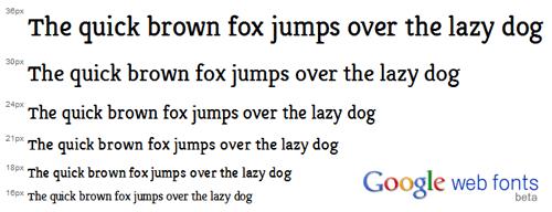 Directorio de fuentes de Google Font API