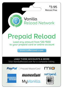 Vanilla Reload Card