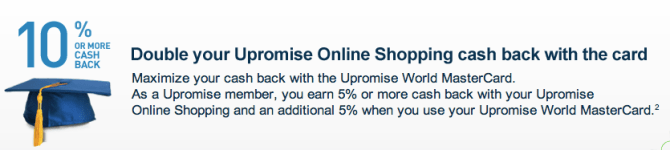 Earn 10 Percent Cash Back on Travel with Upromise Credit Card