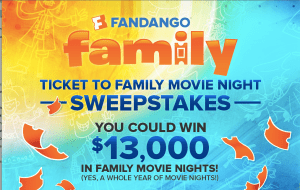 Fandango Family Movie Night Sweepstakes