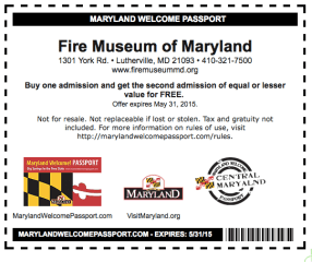 Fire Museum of Maryland BOGO Tickets