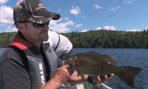 Pete Bowman with a feisty Smallie