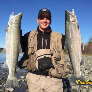 Steelhead -Mad River- Me and a pair of 8 pounders- 1-2-16_web