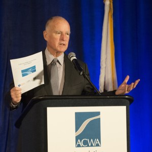 """For the fourth year in a row, Governor Jerry Brown has received the prestigious """"Cold, Dead Fish"""" award. Photo of Jerry Brown by Joe McHugh, California Highway Patrol."""