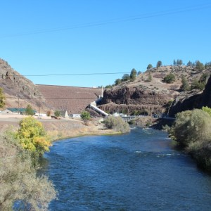 Photo of Klamath River below Iron Gate Dam by Dan Bacher.