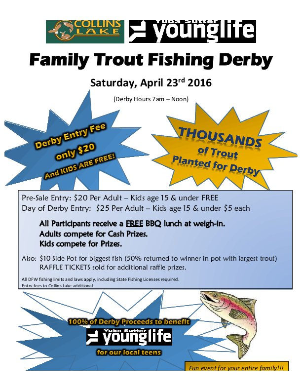 Collins Lake Family Trout Derby