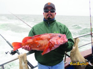 This monster 10 lb. vermilion rockfish was the second biggest fish caught during the July 14 trip aboard the Happy Hooker, earning an Abu Garcia round baitcaster for the angler that caught it.