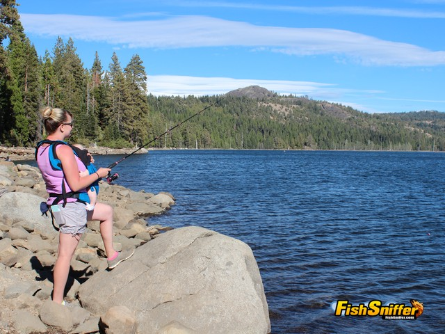 Lake Valley Reservoir is a great reservoir to families to fish for rainbow trout and brown bullhead catfish in solitude.