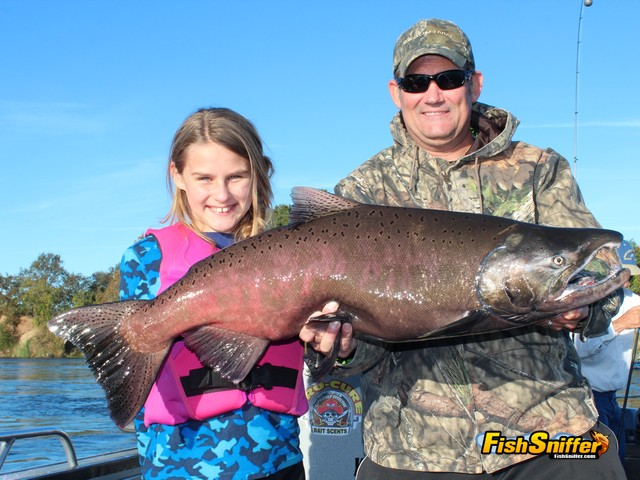 Salmon fishing is a family affair on the feather river for Salmon fishing in california