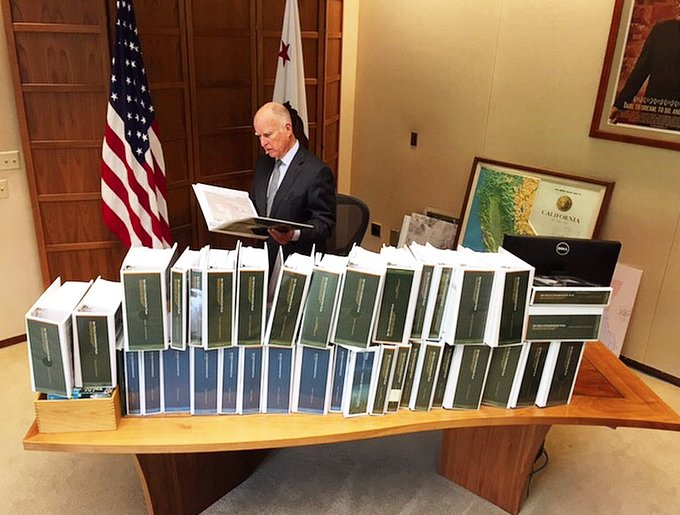Governor Jerry Brown Lauds Release of Documents for Delta Tunnels Water Grab