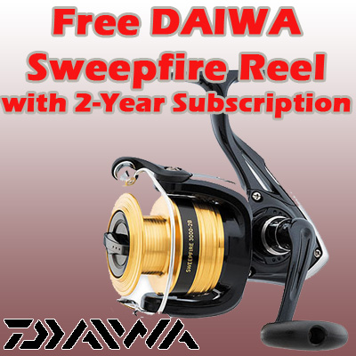 2 Years / 52 Issues w/ FREE Daiwa Sweepfire 3500 Spinning Reel