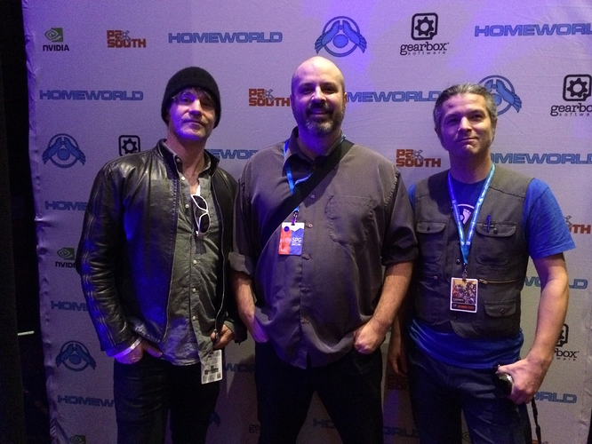 Homeworld Remastered Crew at PAX South - Rob, Aaron, and Luke