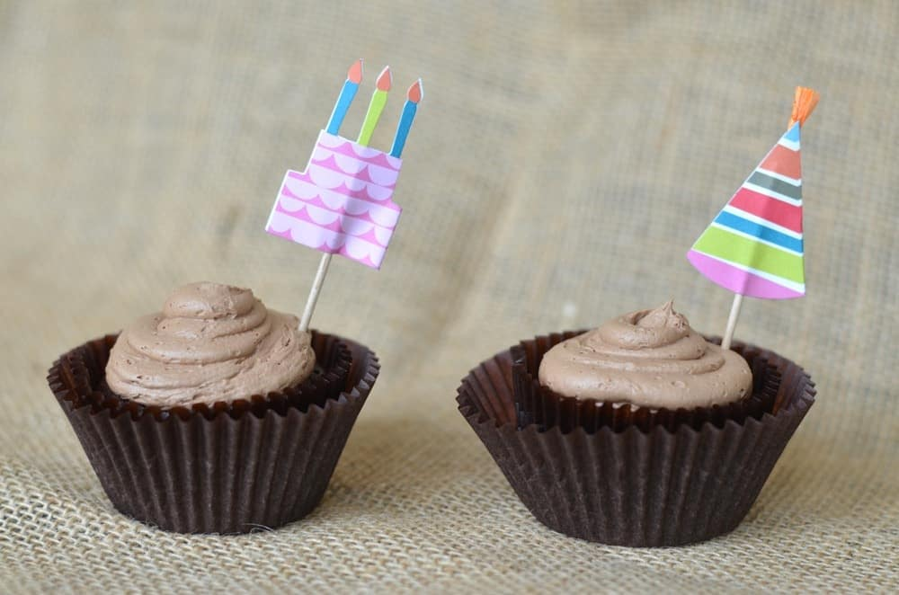 .Chocolate Chocolate Chip Cupcakes with Mocha Buttercream Frosting
