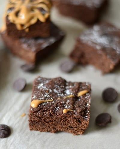 Garbanzo Bean Brownies! #glutenfree #100calories #fitfluential