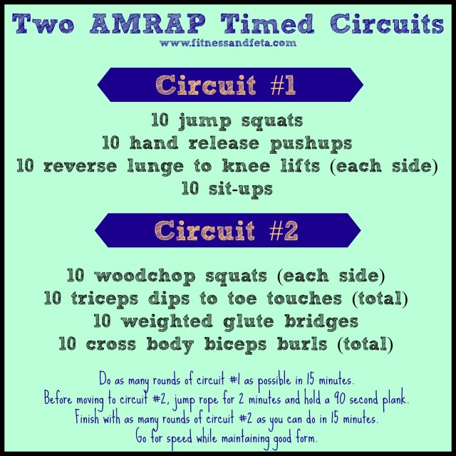 Two AMRAP Timed Circuits