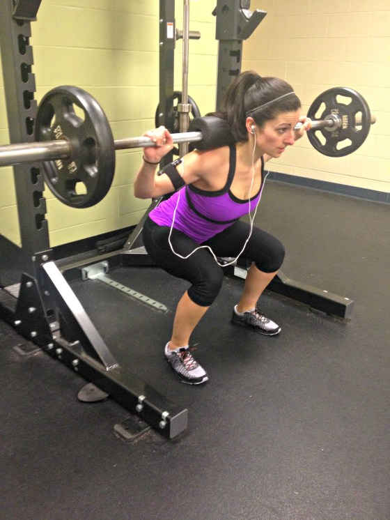 Weighted Barbell Squat