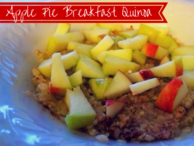 Anyway. Breakfast quinoa. It's awesome. This apple pie breakfast quinoa is slightly sweet with crunch from the apple. The apple is key. If you have a morning sweet tooth, but crave something healthy, I cannot recommend this enough.