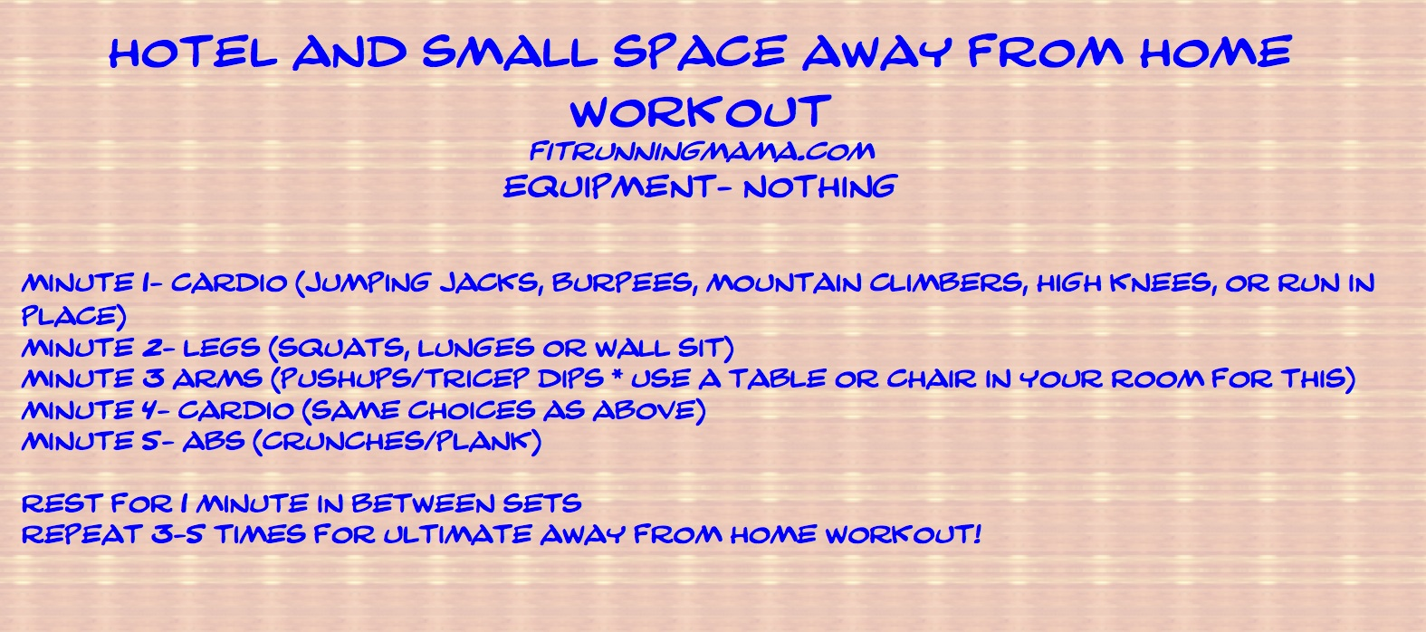 Small Space Workout Fit Running Mamafit Running Mama