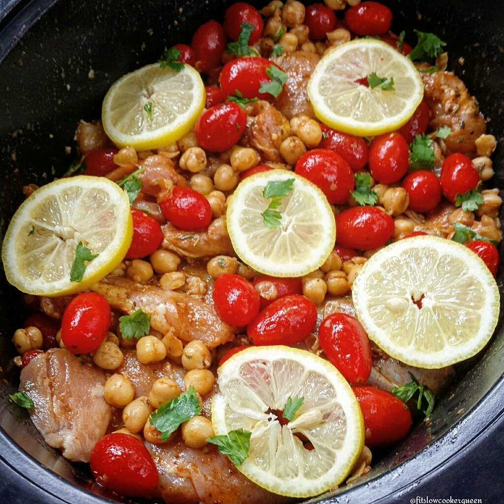 This Mediterranean-inspired dish is made in the crock-pot