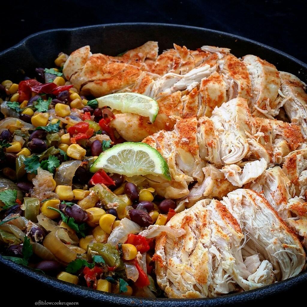 Slow Cooker Fiesta Chicken - Fit SlowCooker Queen