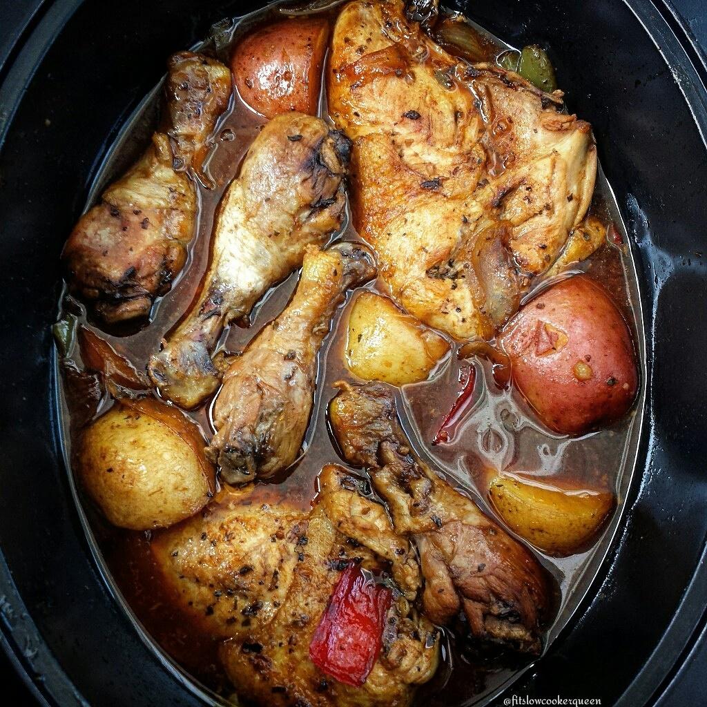 Slow Cooker Honey Garlic Chicken & Potatoes