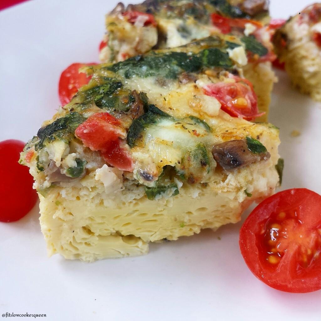 Slow Cooker Vegetable Frittata