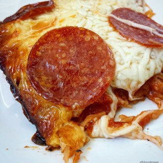 Slow Cooker Spaghetti Squash Pizza Casserole