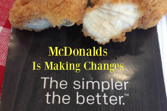 McDonalds is making healthy changes to their menu items. Happy Meals, chicken nuggets and salads.
