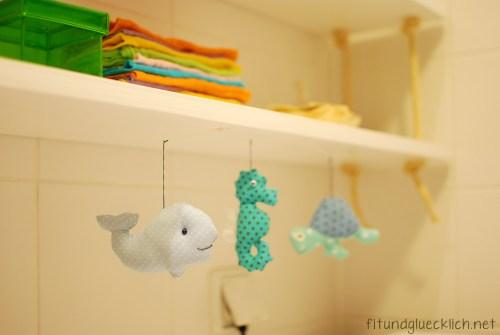 bathroom, badezimmer, Wickeltisch, changing table, maritime, fitundgluecklich.net, sea life, wal, whale, seepferdchen, sea horse, turtle, schildkröte