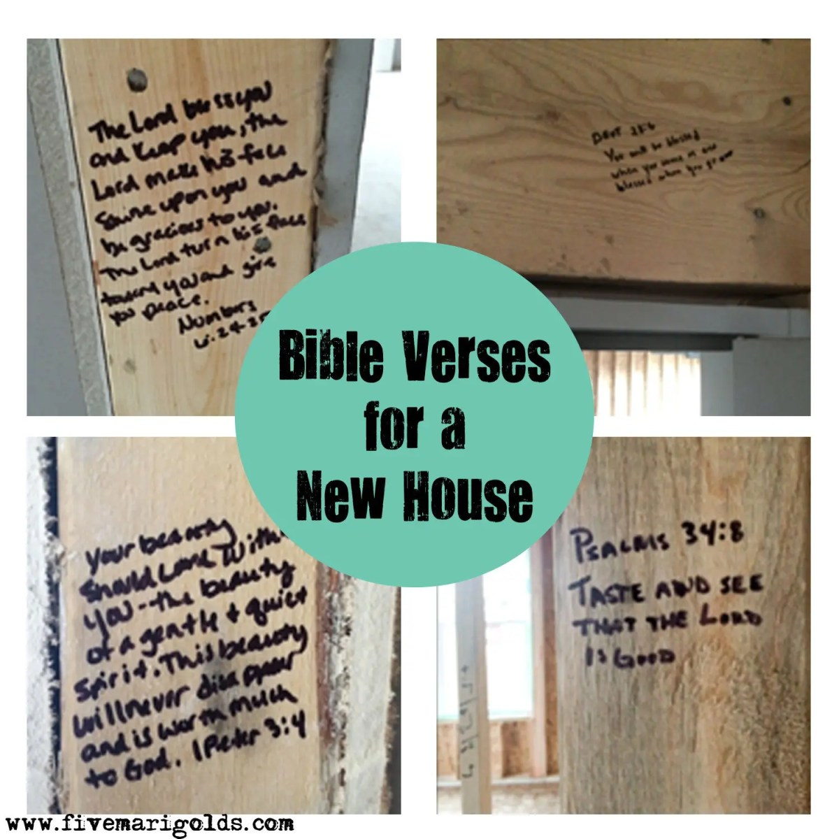 Strong foundations: bible verses for a new house