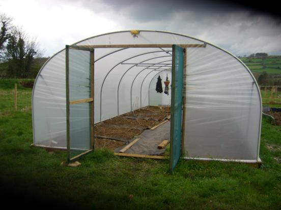 11 polytunnel standard doors shade netting