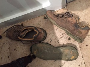 Why we pack backups: disintegrated boots.