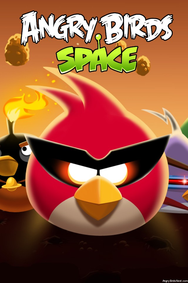 Angry-Birds-Space-Bird-Clan-Light-iPhone-Wallpaper