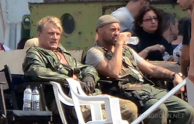 Set Photos of The Expendables 3